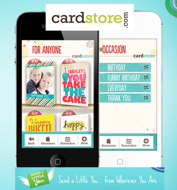 Real Cards Straight from Your Heart, By Way of Your iPhone! Download the FREE Cardstore iPhone App Today