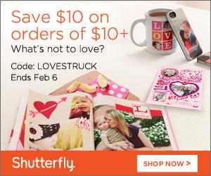 Shutterfly 10 off 10