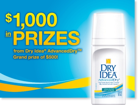 Dry Idea Advanced Dry Deodorant - $500 Grand Prize
